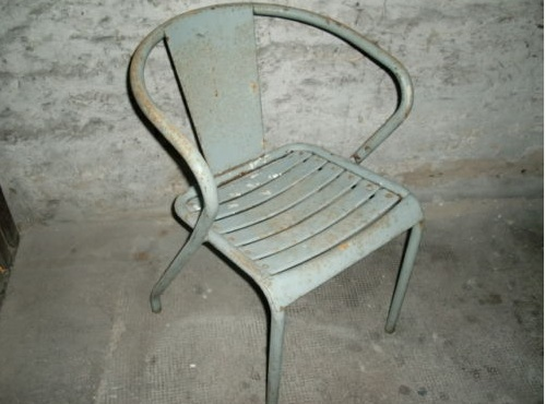 Fauteuil chaise tolix design afrosaxon - Ancienne chaise tolix ...